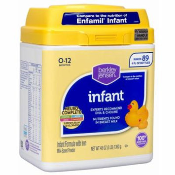 Berkley Jensen Infant Formula, 48 oz. (baby formula - Wholesale Price