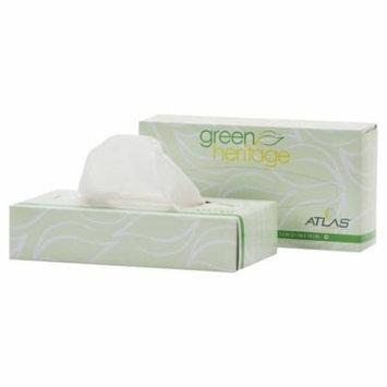 Atlas Paper Mills Green Heritage Facial Tissue, 2-Ply, White, 7 4/5 x 8, 100/Box, 72 Box/Carton