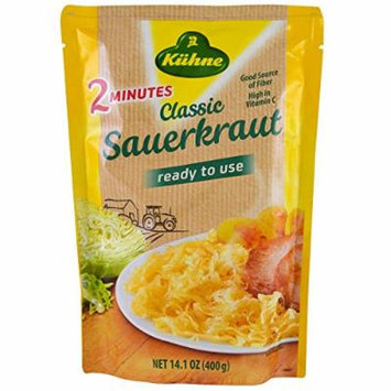 Kuhne, Ready to Use, Classic Sauerkraut, 14.1 oz, Pack of 3