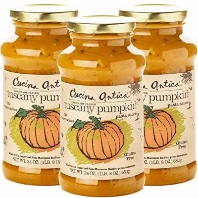 Cucina Antica Pasta Sauce, Tuscany Pumpkin, 24 Ounce,3 Count