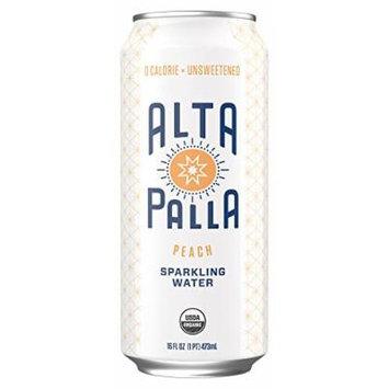 Alta Palla Organic Sparkling Water, Peach, 12 Count, 16 fl oz