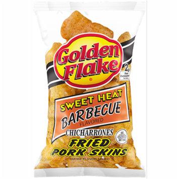 Golden Flake Snack Foods Sweet Heat Barbecue Flavored Fried Pork Skins 3.25 oz. Bag (6 Bags)