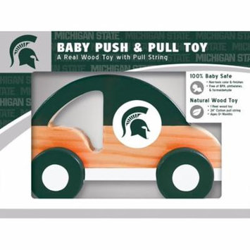 Michigan State Spartans Wooden Baby Push & Pull Wooden Toy
