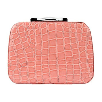 DZT1968 Women girl Portable Makeup Storage Case Jewelry Box Leather Travel Cosmetic Organizer