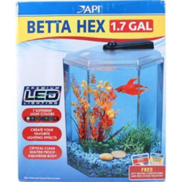 Hawkeye 1.7 gal Hex Betta Kit with LED Lighting