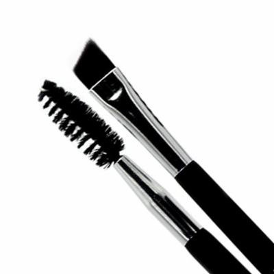 Portable Size Women Eyebrow Brush Tool Facial Makeup Cosmetic Happy Makeup Double Head Wooden Handle Eyebrow Brush Comb