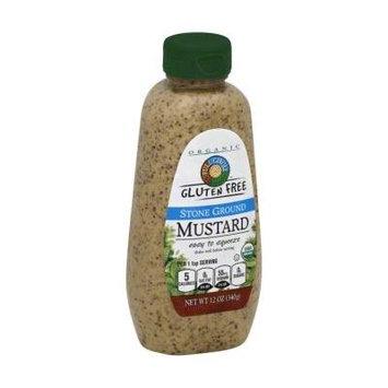 Full Circle Organic Gluten Free Stone Ground Mustard 12 oz (Pack of 3)