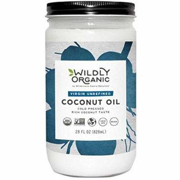 Organic Coconut Oil - Virgin Unrefined (Same as Extra Virgin) Cold Pressed, Non-GMO, Vegan, Raw, Glass Jar, Wildly Organic - 28 FL OZ