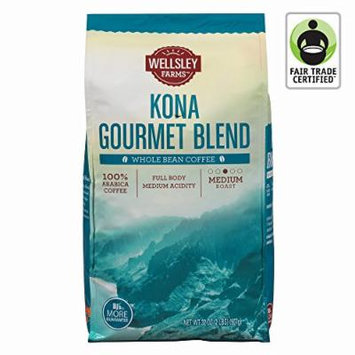 Wellsley Farms Kona Gourmet Blend Whole Bean Coffee, 40 oz. (pack of 6)