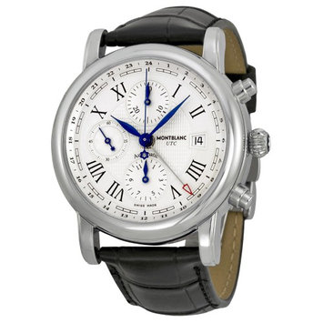 Montblanc Watches Montblanc 107113 Star Chronograph UTC Automatic Men's Leather Watch