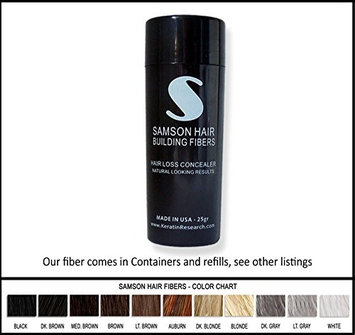 Samson Hair Fibers DARK BROWN Samson Best Hair Loss Concealer Building Fibers CONTAINER With 25grams Also Fits Toppik Xfusion Spray Applicators