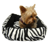 Dog bed Black White Zebra Washable Soft Pet Bed Pillow For Dog Cat - One Size (16