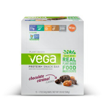 Vega Protein + Sanck Bar Chocolate Caramel-Box SeQuel 12- (1.7oz (49g) Bar Box