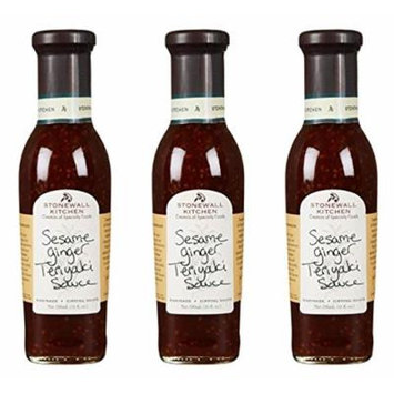 Stonewall Kitchen Sesame Ginger Teriyaki Sauce, 11 oz (Pack of 3)