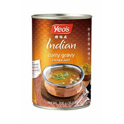 Yeo's Indian Curry Gravy (Extra Hot), Pack of 4