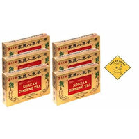 Prince of Peace Korean Ginseng Tea(instant) 0.07 Oz X 10 Bags X 10 Boxes (6)