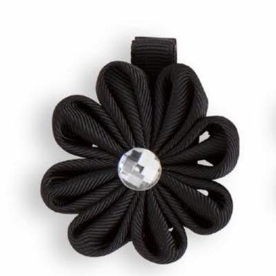 Flower Hair Clip with Crystal Center CHOOSE ONE White