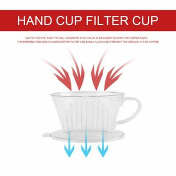 PP Resin Coffee Filter Cup Drip Coffee Filter Manually Follicular Filter