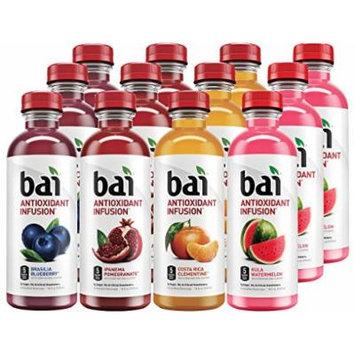 Bai (12 Pack) 18 Fl. Oz. Bottles Vegan, Gluten Free, Kosher, Non-GMO Antioxidant Infusion Beverage (Blueberry, Clementine, Pomegranate, Watermelon)