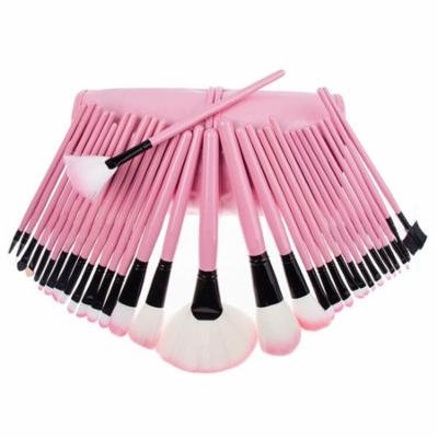 Mosunx 32Pcs Pouch Bag Case Superior Soft Cosmetic Makeup Brush Set Kit PINK