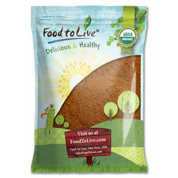 Food to Live Certified Organic Cocoa Powder (Natural, Non-Dutched, Non-GMO, Unsweetened, Fair Trade, Bulk) (8 Pounds)
