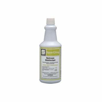 Spartan Sparcling Clinging Acid Bathroom Cleaner/Disinfectant, Quarts, 12 Per Case