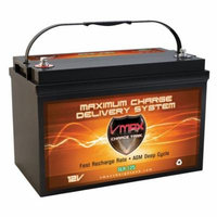 VMAX SLR125 Battery Replaces SEARS 27722 Battery, VMAX 12V 125Ah Group 31 Deep Cycle AGM