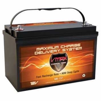 VMAX MB137-120 AGM Group 31 Deep Cycle Battery Replaces Power Volt PF-31P-6 12V 120Ah