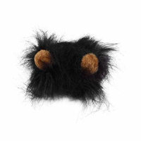 Lovely Pet Costume Lions Mane Wig for Cat Halloween Christmas Party Dress Up With Ear Pet Apparel Cat Fancy Dress