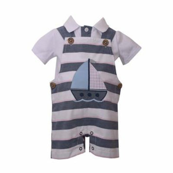 Bonnie Jean Baby Boys Sailboat Coverall 4T