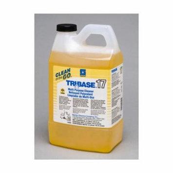 Spartan Clean on the Go 17 Tribase Multi-Purpose Cleaner, 2 Liter Bottle, 4 Bottles Per Case