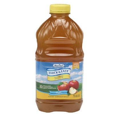 Thick & Easy Thickened Beverage Apple Ready to Use Honey Consistency 48 oz. Bottle, Case of 6, 2 Pack (12 Total)