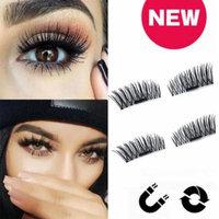 3D Ultra-thin Natural Thick Eye Lashes 3D Magnetic Handmade Durable Women Thick False Eyelashes 1Pair/4pcs