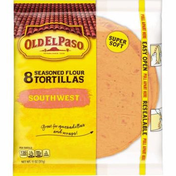 Old El Paso Southwest Seasoned Flour Tortillas 8 Ct, 11 oz