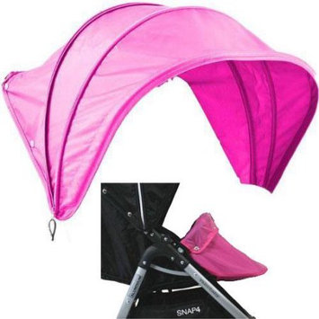Valco Baby Vogue 3 Piece Hood, Harness and Boot Cover Set Color: Hot Pink
