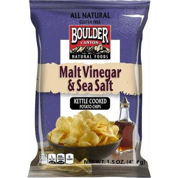Boulder Canyon Malt Vinegar and Sea Salt Kettle Cooked Potato Chips - 1.5 oz. bag, 55 per case