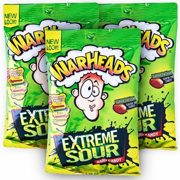 Warheads Extreme Sour Hard Candy Assorted Flavors 2 Oz.