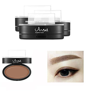 Bestpriceam Brow Stamp Powder Delicated Natural Perfect Enhancer Straight United Eyebrow (Brown)