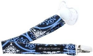 Ah Goo Baby Pacifier Clip Pattern: Blueberry