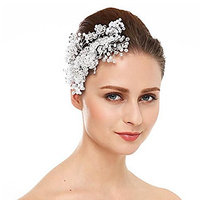 Missgrace Women's Rhinestone Crystal Headpiece Bridal Hair Comb Wedding Special Occasion Hair Combs 1 Piece