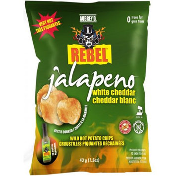 Cheesy Jalapeno White Cheddar Potato Chips by Aubrey D, a Perfect Blend of Cheddar and Spicy Jalapenos for a Nice, Light Bite