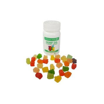 Hemp Oil Gummies 30 Count, 20mg per Gummy Bear by Intrinsic Hemp, Pure Naturally Occurring Hemp, Non-GMO from Organic Hemp Seed Oil