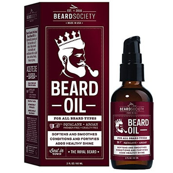 Beard Society Royal Beard Edition Beard Oil, Soften, Smoothes, Conditions & Fortifies, Adds Healty Shine for all Beard Types 2oz/60ml