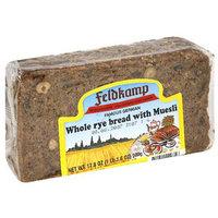 Feldkamp Whole Rye Bread with Muesli, 16.75 oz, (Pack of 12)