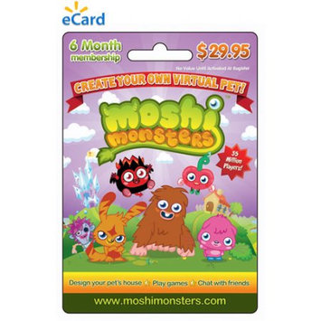 Incomm Mind Candy Moshi Monsters 6 month Game eCard $29.95 (Email Delivery)