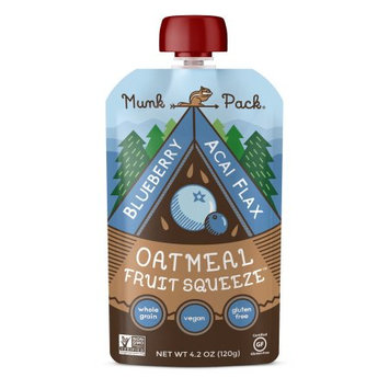 Munk Pack Oatmeal Fruit Squeezes, Blueberry Acai Flax, 4.2 Oz