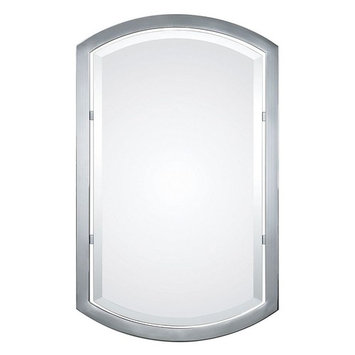 Global Direct 23 in. x 37 in. Polished Chrome Metal Framed Mirror