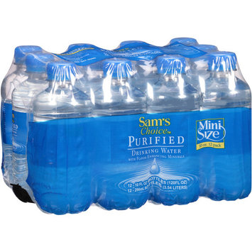 Sam's Choice Purified Water, 10 Fl Oz, 12 Ct (Pack of 2)