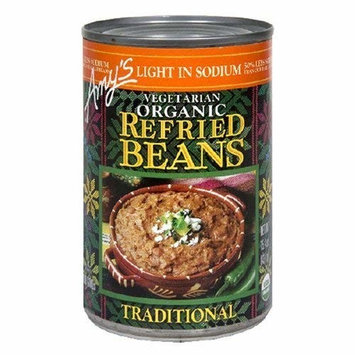 Amy's Light in Sodium Organic Traditional Refried Beans, 15.4-Ounce Cans