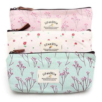 Countryside Flower Floral Pencil Pen Case Cosmetic Makeup Bag¡ê? Set of 3
